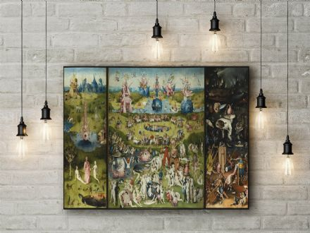 Bosch: The Garden of Earthly Delights. Fine Art Canvas.